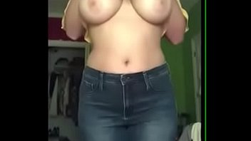 Stunning Latina showing tits and great ass