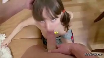 He Seduce Extrem Skinny Step-Sister to Fuck her Anal