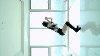 公众号【是小喵啦】韩国萌妹高难度动感瑜伽超性感诱惑