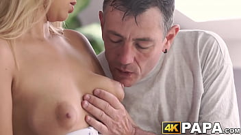Young cheater receives rough anal thrusts by older man dick blowjob big-dick oral-sex