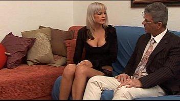 Women probing man ass Hot babe with big tits seduces a mature man...