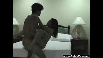 Asian Couple film their sex in a hotel