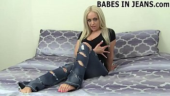 Wearing these ripped jeans makes me feel so sexy JOI