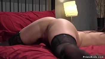Brunette landlord anal fucked in bondage