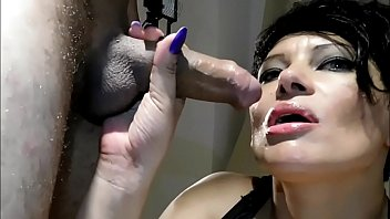 father and son in threesome with wife