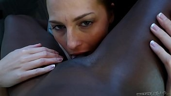 Interracial lesbian couple -  Roxy Rox and Ana Foxxx