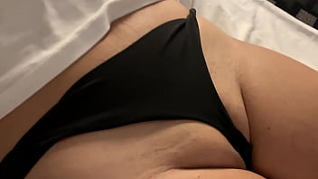 Seethru white blouse and pussy lips show, black thong, shaved pussy, visible nipples, mexican exhibicionist milf, flashing tits, wet t shirt