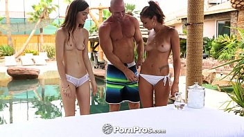 HD PornPros - Tali Dova & Ariana Marie hot fuck session by the pool Thumb