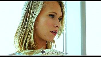 Passion-HD - Hot blonde teen Dakota James sits on her man's dick