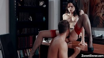 Petite and seductive girlfriend Jenna J Ross surprised her hot boyfriend with a special office fuck and her tight pussy ready for his giant dick.