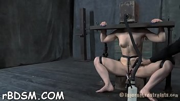Forced pleasure videos - Caged up chicks are forced to pleasured each other