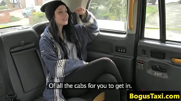 UK teen fucked and creampied by taxi driver