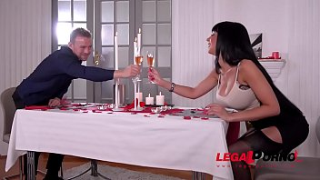 Hubby shares hot busty wife Valentina Ricci with waiter on Valentine'_s Day GP491