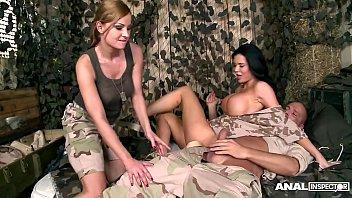 Anal Army Inspectors Jasmine Jae &amp_ Abbie Cat Fucked Balls Deep