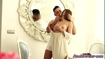 Busty euro beauty creamed after anal sex