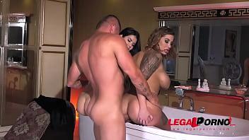 Lesbian vixens Lady Dee & Heidi Van Horny go for gentleman's hard boner GP839
