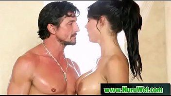 Hot masseuse fullfill client sex needs with a nuru massage 13