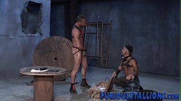 Hunk stud giving blowjob