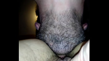 Quick asshole lick and clit rub