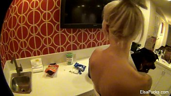 Elsa Jean shows her pussy