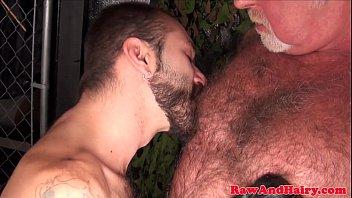 Gay grey bears Grey wolf sucking pierced cub and masturbates