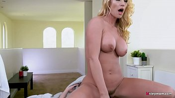 Lucky young Dude Gets to fuck stepmom and stepsister at the same time!