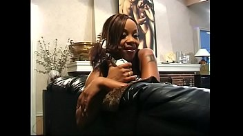 Busty ebony chick Kitten is fond of having booty busting with hard dong