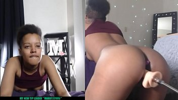 Ebony Squirts From Fucking Machine Live on Web Cam Marvelgal Preview