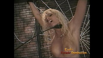 Lesbian authoritarian sex domination bdsm Skinny blonde wench lets her domina whip and spank her hard
