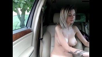 Teen masturbating in the wood