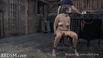 Gagged gal made to submit