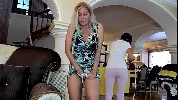 mature lady tries not get caught masturbating