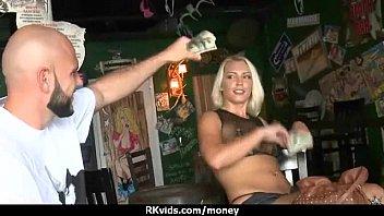 Slutty amateur babe is paid cash from some crazy public sex 22