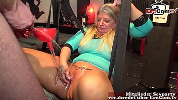 German housewife NO CONDOM swinger party with huge cum loads and creampie