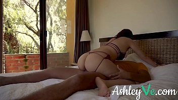 Masked Redhead Gets Massive Facial - Ashley Ve