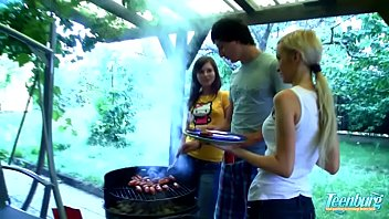 My Sexy russian sisters BBQ ends in an orgy - WWW.FAPLIX.COM