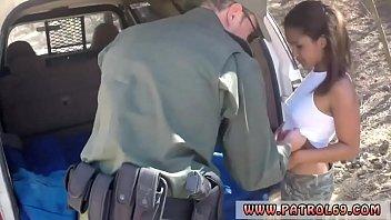 Police Horny border patrol boinks Latin gal Loni Legend in the