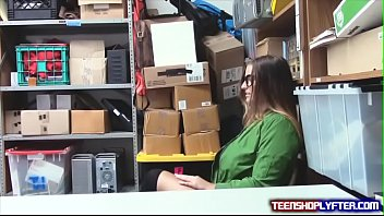 Big Tittied Teen Shoplyfter Groped and Fucked by Security Guard