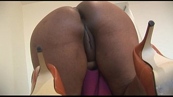 Busty mature ebony beauty teasing as she cleans