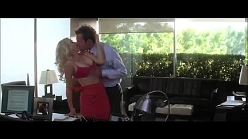 Hot Scarlett Johansson in Sex Office Scene and Bouncing Boobs