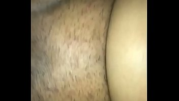 Tied up a redbone by her ankles while I'm stroking that wet pussy