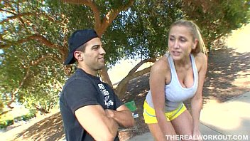 Busty Alanah Rae Rammed By Her Trainer