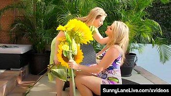 Smoking Lesbians Sunny Lane & Vicky Vette Pussy Fuck Outside
