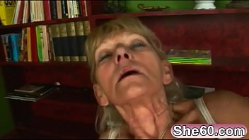 Blonde granny Inci gets fucked by her younger lover Libor