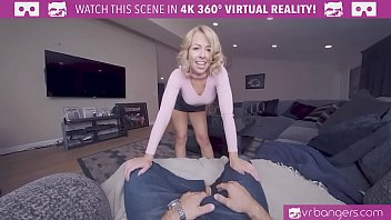 VRBangers.com-Sexy Blonde Zoey Monroe getting her holes filled with a Big Dick