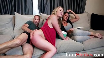 Dad's Cock Nudges Daughter's Pussy- Adira Allure
