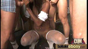 Ebony Babe Sucks Group Of White Guys 15