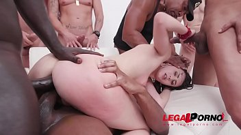 Lina Luxa assfucked by 1, 2, 3, 4 guys and then gangbanged by all 10 of them with DP, DAP & cum swallow SZ2284