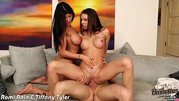Brunette cuties Romi Rain and Tiffany Tyler fuck