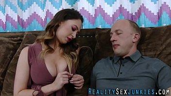 Flat chested pornstar sucks and jerks